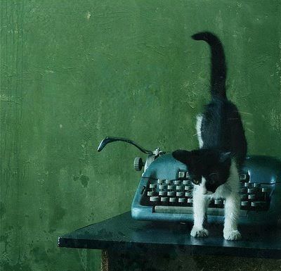 cat-green-typewriter